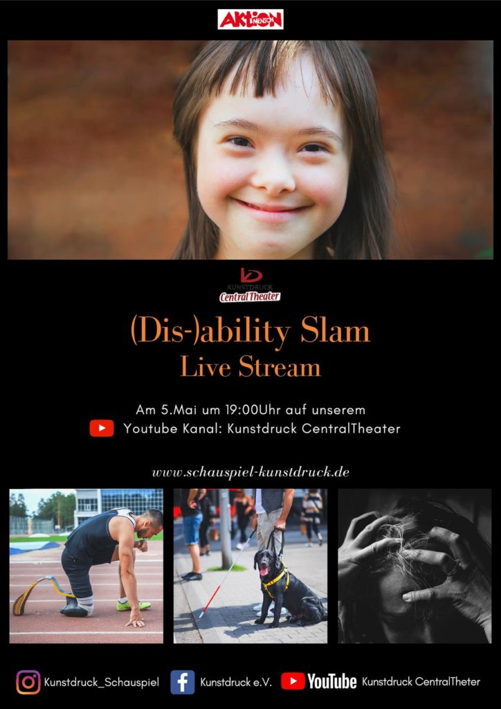 "Flyer vom ""Disability Slam"""